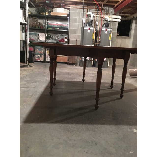 Antique Sheraton Walnut Pembroke Table For Sale - Image 10 of 11