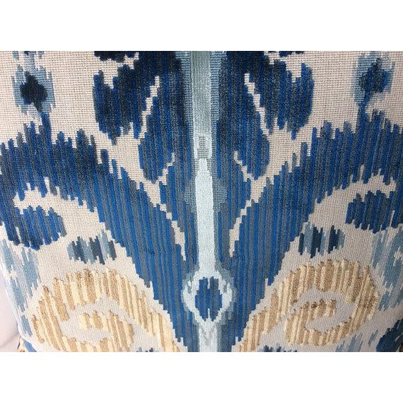 """Contemporary Lee Jofa """"Pardah"""" Velvet Pillows - a Pair For Sale - Image 3 of 4"""