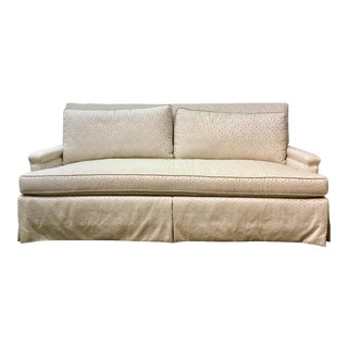 Pearson Transitional White Skirted Pamela Sofa For Sale