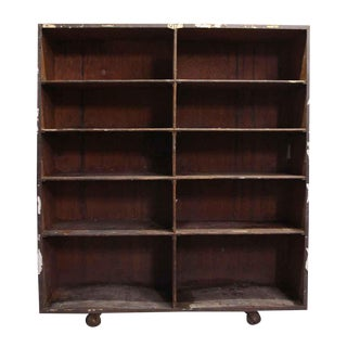 Wooden Storage Shelf Unit For Sale