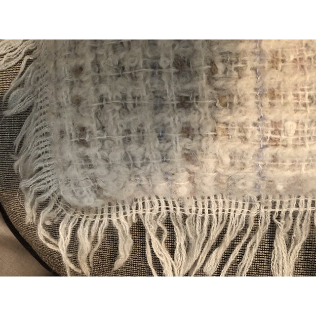 Vintage Hand Woven Irish Wool Pillow For Sale - Image 4 of 8