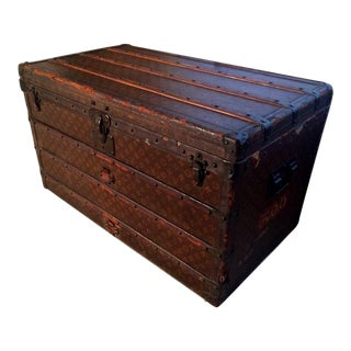 20th Century French Louis Vuitton Steamer Trunk/Chest For Sale