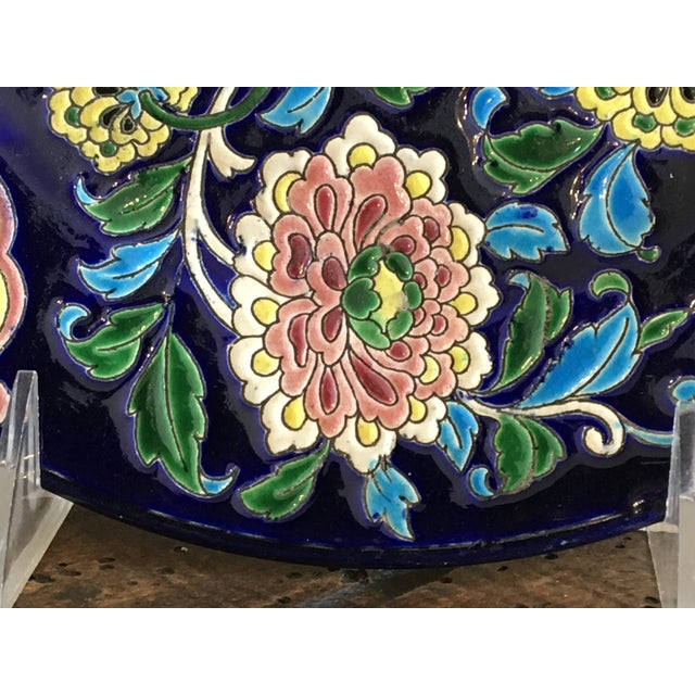 Ceramic Antique French Faience Colorful Longwy Plate For Sale - Image 7 of 13