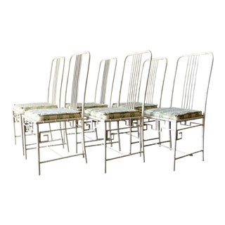 Faux Bamboo Metal Dining Chairs, Ca. 1970 For Sale