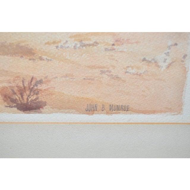"John B. Munroe ""Desert Tranquility"" Watercolor c.1960s For Sale - Image 4 of 9"