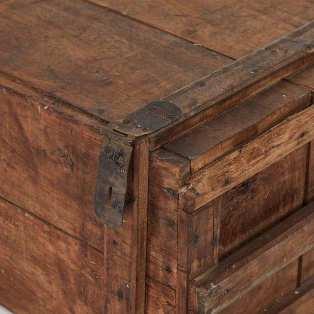 Rustic Wood Chest as Coffee Table For Sale - Image 4 of 5