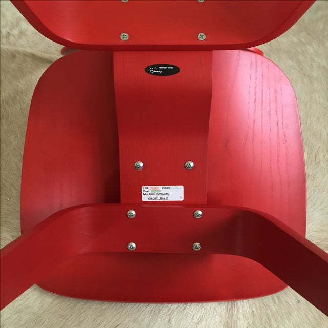 Herman Miller Eames DCW From Herman Miller Red Dining Chair For Sale - Image 4 of 9