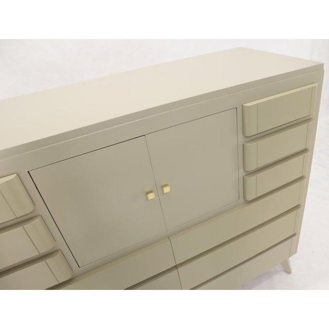 Multiple 12 Drawers Two Door Compartment Cube Shape High Wide Chest Dresser For Sale - Image 9 of 13