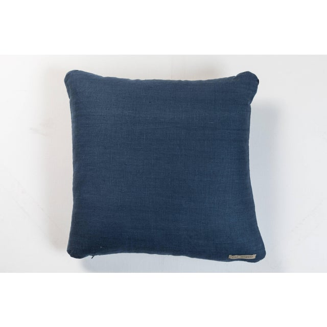 African Indigo Ashante Pillow For Sale - Image 4 of 5
