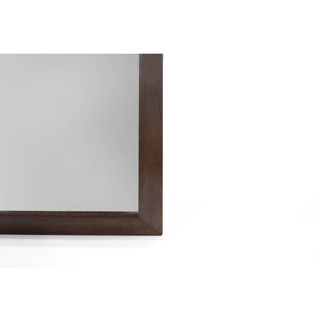 Mid 20th Century Large-Scale Walnut Mirror by t.h. Robsjohn-Gibbings For Sale - Image 5 of 8