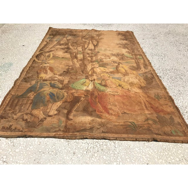 Antique Gobelin Wall Art Tapestry For Sale - Image 4 of 8