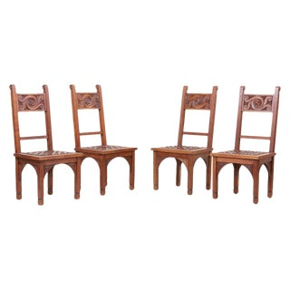 Set of Four Art Deco 1930s Dining Chairs by M. Jacques Philippe, France For Sale