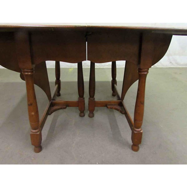 Antique Cherry Gate Leg Table For Sale - Image 6 of 7