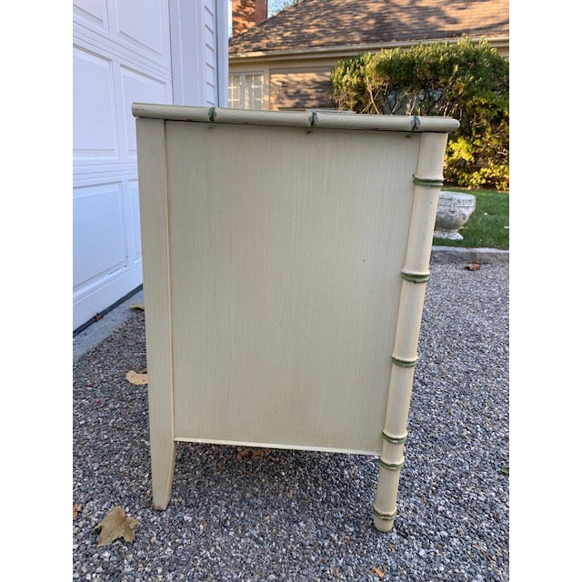 Metal 1970s Faux Bamboo Allegro by Thomasville Dresser For Sale - Image 7 of 11