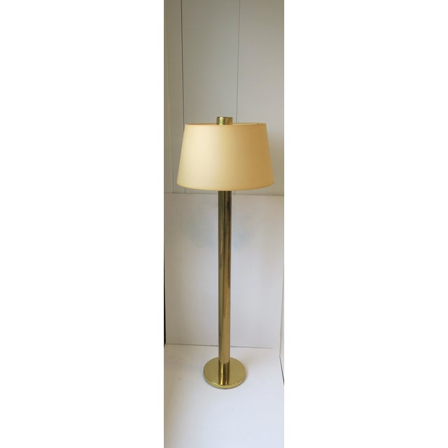 Modern Modern Brass Floor Lamp by Koch and Lowey For Sale - Image 3 of 13