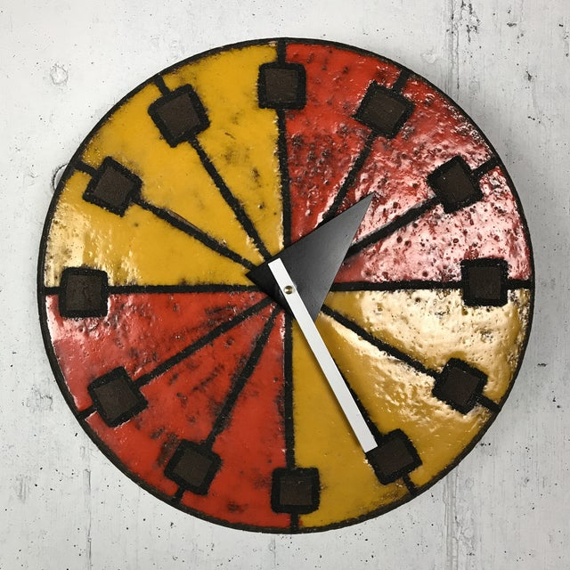 Mid-Century Modern 1960's Italian Ceramic Wall Clock by Bitossi & George Nelson For Sale - Image 13 of 13
