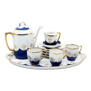 Art Deco Tea/Coffee Set by Fraureuth - Set of 11 For Sale