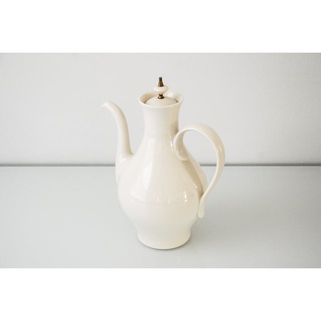 Mid-Century Modern Mid-Century Modern Porcelain Coffee Pot For Sale - Image 3 of 6