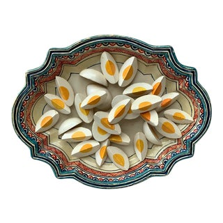 1930 Majolica Trompe l'Oeil Eggs Platter For Sale