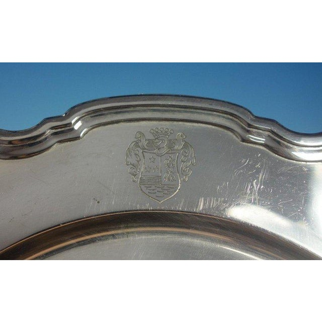 Tiffany and Co. Hampton by Tiffany & Co. Sterling Silver Charger Plate #20843 For Sale - Image 4 of 5