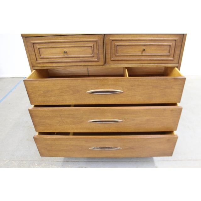 Metal Mid-Century Modern Broyhill Premier Sculptra Tall Chest of Drawers For Sale - Image 7 of 13