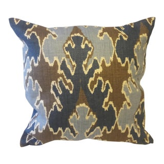 Eastern Accents Geometric Ikat Style Accent Pillow Covers - A Pair For Sale