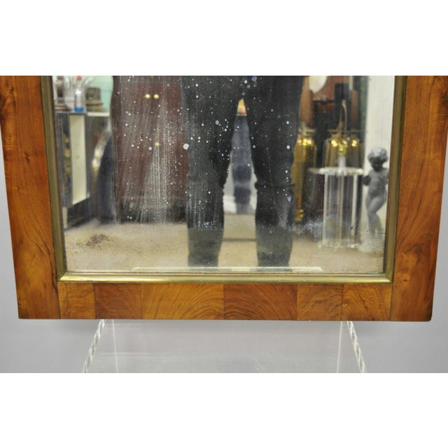 Mid 19th Century 19th Century Vintage American Empire Crotch Mahogany Looking Glass Wall Mirror For Sale - Image 5 of 12