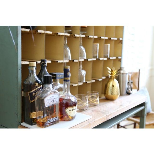 Metal Vintage Industrial Mail Sorter Bar Shelf / Cabinet Desk For Sale - Image 7 of 7