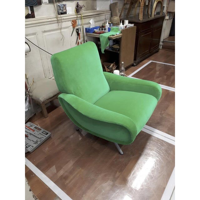"Marco Zanuso Pair of Model ""Lady"" Arm Chair For Sale - Image 6 of 8"
