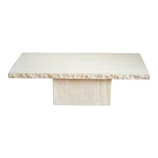 1970s Mid Century Modern Maurice Villency Travertine Coffee Table For Sale