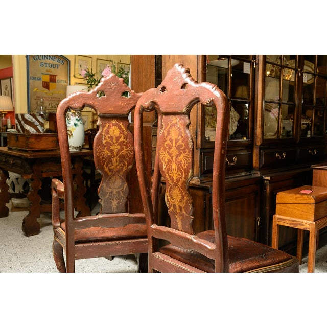Venetian Style Dining Chairs - Set of 10 For Sale - Image 4 of 8