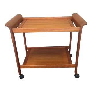 Mid-Century Modern Teak Tea Cart For Sale