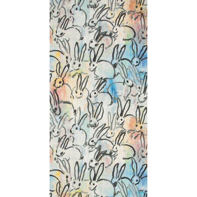 Contemporary Hunt Slonem for Lee Jofa, Lucky Charm Wallpaper Roll, Multi, 10 Yards For Sale - Image 3 of 3