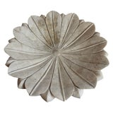 Image of White Marble Lotus Bowl For Sale