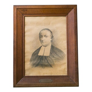 Collection of Five Large Clergy Portraits in Oak Frames, circa 1838