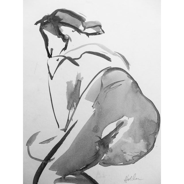 French Model Ink Drawing - Image 4 of 4