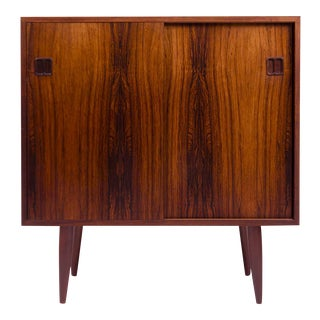 Vintage Danish Mid-Century Rosewood 2-Door Media Cabinet For Sale
