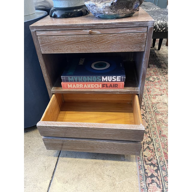 Cerused Oak Night Stands Sligh Nightstands For Sale - Image 9 of 11