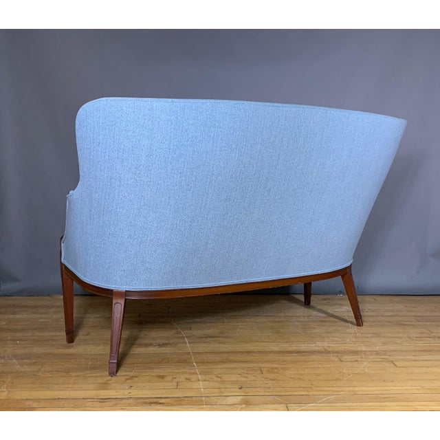 Wood 1940s Fritz Henningsen Curved-Back Settee, Denmark For Sale - Image 7 of 11