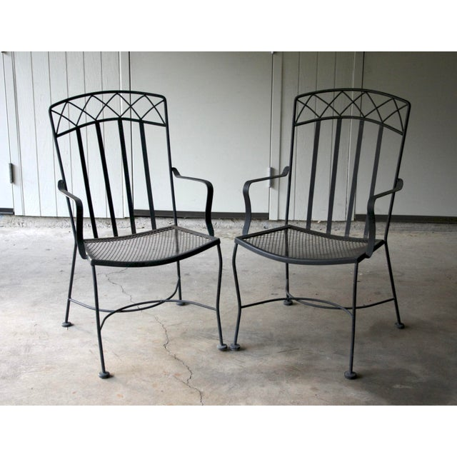 1960s Salterini Style Patio Chairs, a Pair For Sale - Image 5 of 5