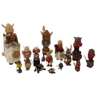 Collection of Fourteen Danish Vikings by Hans Bolling and Bojesen For Sale