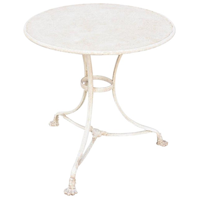French 19th Century Painted Gueridon-Form Cafe Table For Sale