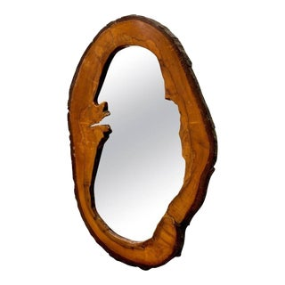 Small Walnut Mirror by Carl Auböck, 1950s