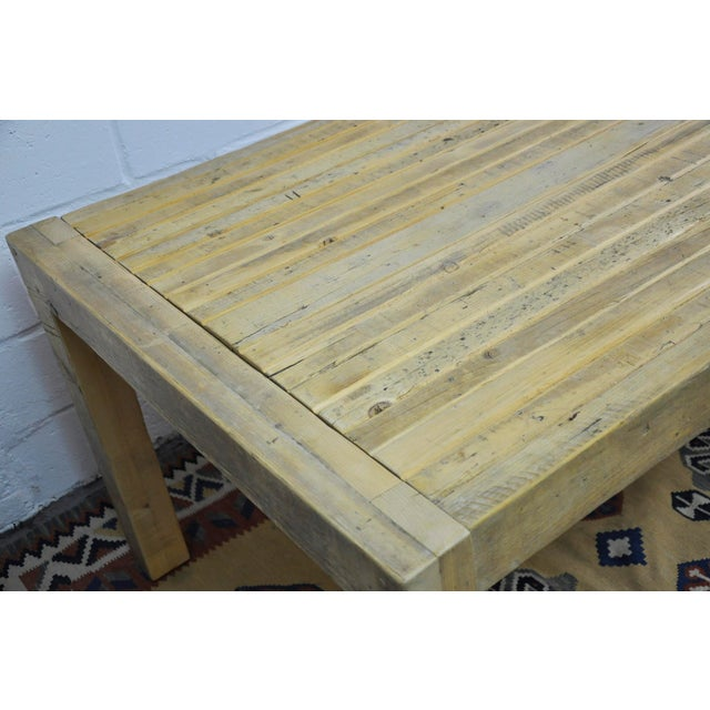 Contemporary Rustic Reclaimed Salvaged Wood Dining Table Chairish