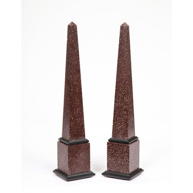 Fine Pair of Italian Grand Tour Egyptian Porphyry Obelisks For Sale In New York - Image 6 of 13