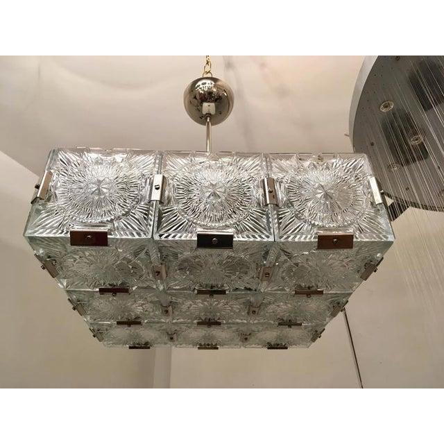 1960s Czech Bohemian Crystal Flush Pendant For Sale - Image 9 of 10