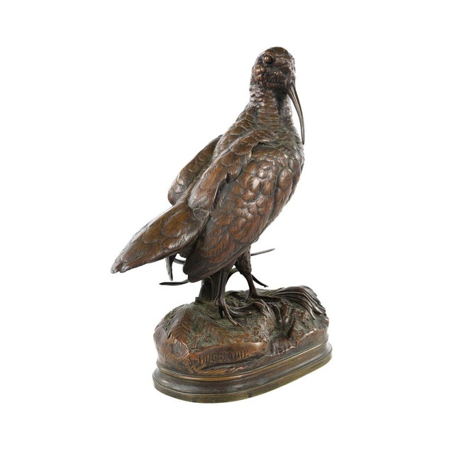 19th Century Patinated Bronze Sculpture of Woodcock by Alfred Dubucand For Sale - Image 4 of 9