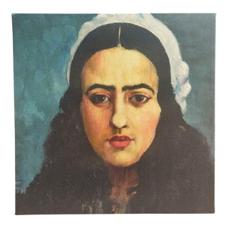 Amrita Sher-Gil Self Portrait #5 - Canvas on Frame (Reproduction Print) For Sale