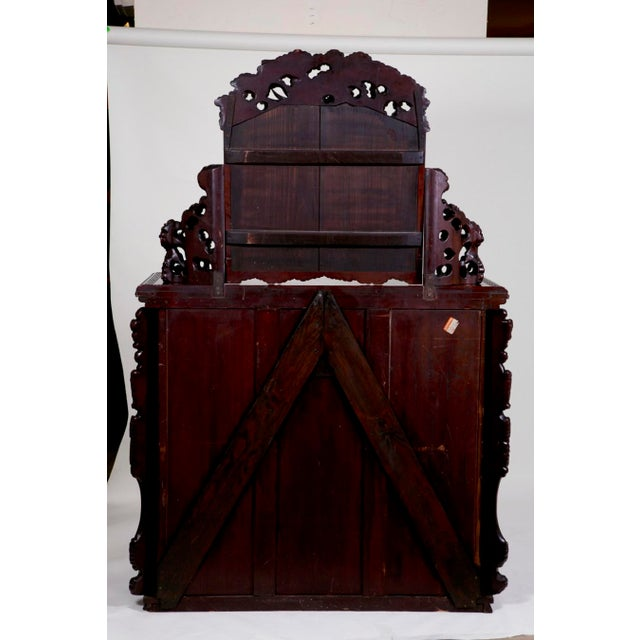 Mid 19th Century Mid 19th Century Japanese Carved Chest & Mirror For Sale - Image 5 of 8