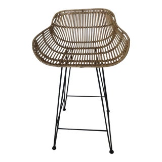 Rattan Counter Bar Stool For Sale